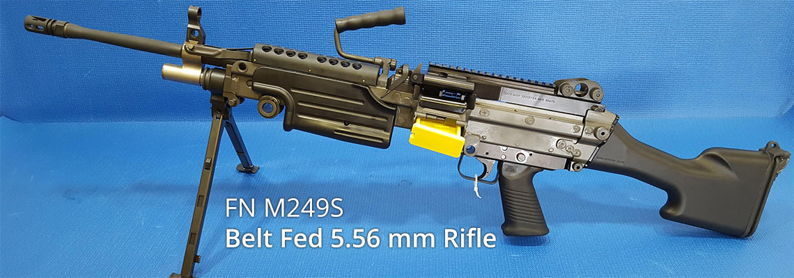 FN M249S Belt Fed 5.56 mm Rifle