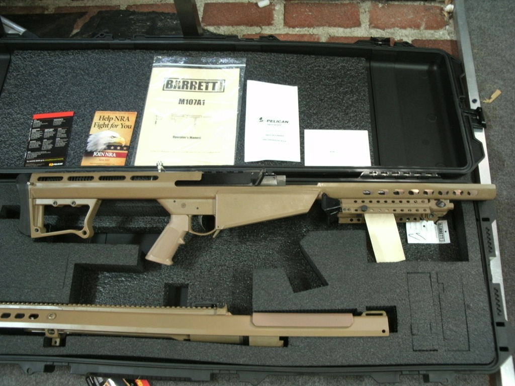 BARRETT M107A1 50BMG 29 inch Barrel FDE Rifle   Call (305) 923-6560