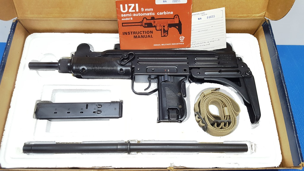 IMI UZI Model A 9mm Carbine Excellent, Test fired only