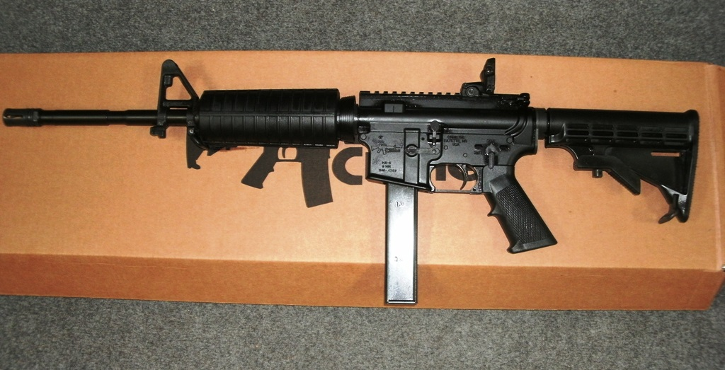 CMMG M4A3 9MM 16INCH BARREL W/ BIRD CAGE BLK 32RD MAG.