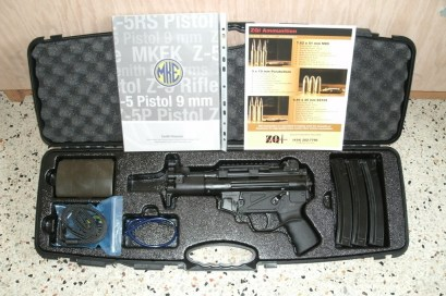 MKE Z-5k 9mm Pistol with 922r conversion parts