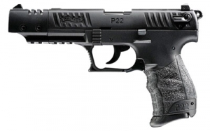 WALTHER P22 22LR 5inch Pistol, Blue, with 1-10rd mag, and adjustable sights.