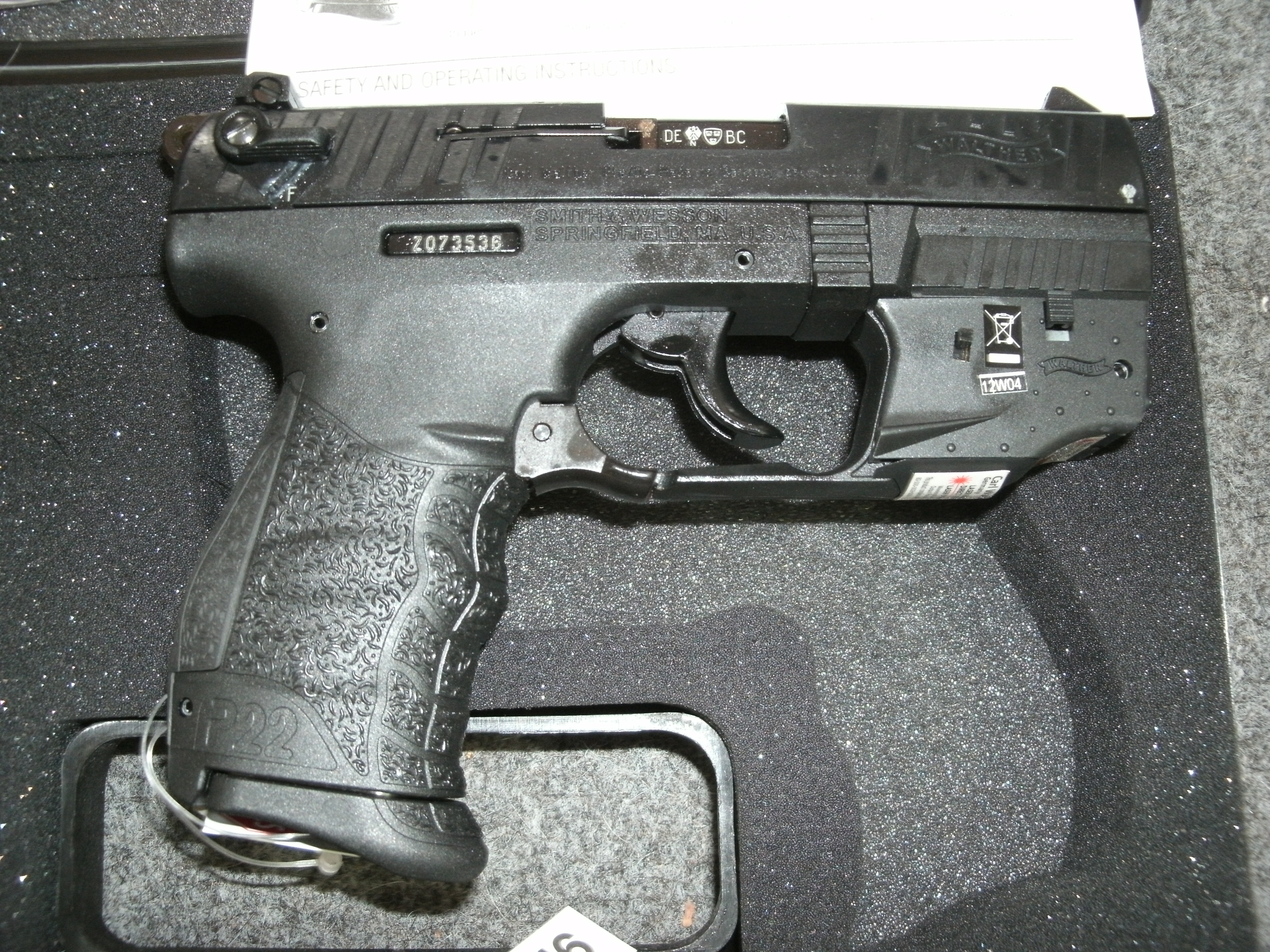 Auto Mart Usa >> WALTHER P22 PISTOL W/LASER, THREADED BARREL. THESE ARE SUPPRESSOR READY!